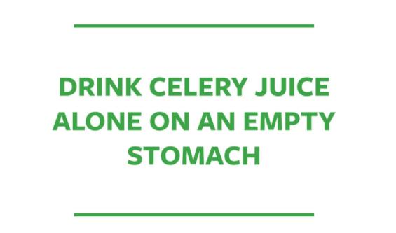 Benefits of Celery Juice on Empty Stomach